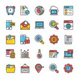 Digital and Internet Marketing Vector Icons Set 6 Royalty Free Stock Images