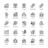 Real Estate Line Vector Icons Set 6 Royalty Free Stock Photo