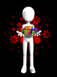 Here Are Some Gifts For You. Blank faceless man holding some Christmas or birthday gifts Stock Image