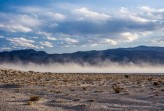 Here the Storm is Born. Sand storm in the desert Royalty Free Stock Photos