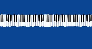 Here is a stylized, distorted retro piano keyboard royalty free illustration