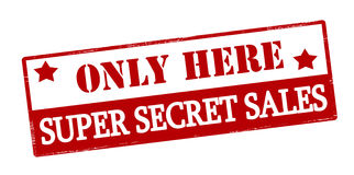 Only here super secret sales Royalty Free Stock Photography