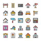 Real Estate Vector Icons Set 4 stock illustration