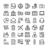 Business And Finance Icons Pack stock illustration