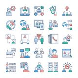 Business And Jobs Icons Set royalty free illustration