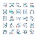 Business Management Icons Set vector illustration