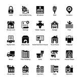 Real Estate Glyph Icons 5 Stock Photos