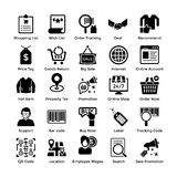 Set Of Shopping Vector Icons Pack. Here is a very useful collection of shopping icons that you are sure to find a great use for. Pack of shopping themed icons Stock Photography
