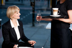 Here is what you ordered ma'am! Royalty Free Stock Image