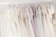 Here wide selection of clothing for bride Stock Photos