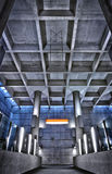 HRD metro station ceiling structure Royalty Free Stock Images