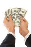 Here is your dollars royalty free stock photography