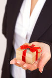 Here is your gift Stock Photo