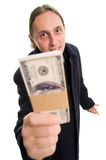 Here is Your money Royalty Free Stock Photo