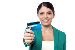Here is your new credit card ! Stock Images