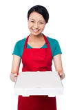 Here is your order sir! Royalty Free Stock Images