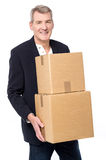 Here is your parcels ! Royalty Free Stock Photography
