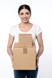 Here is your parcels, Sir ! Stock Photography