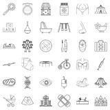 Hereditary icons set, outline style. Hereditary icons set. Outline set of 36 hereditary vector icons for web isolated on white background Stock Images