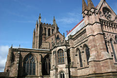 Hereford Cathedral. View of Hereford cathedral from East end Royalty Free Stock Photos