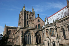 Hereford cathedral. From the east end Stock Image