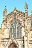 Hereford cathedral in England. Beautiful Hereford cathedral in England Royalty Free Stock Photos