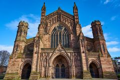Hereford cathedral a7ii sony 24-70. Hereford cathedral herefordshire stock photos