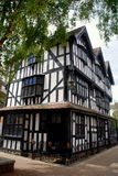 Hereford, England: 1621 Old House. The historic and landmarked Tudor style white and black half-timbered Old House was built in 1621 in the city of Hereford Stock Photo