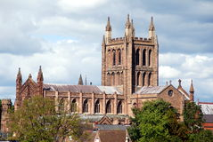 Hereford, England: Hereford Cathedral Royalty Free Stock Photo