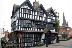 Hereford High Town Old House 2. Hereford High Town Old House timber framed building built in 1621 museum of daily life in Jacobean times Herefordshire UK Royalty Free Stock Photos