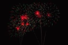 Herein summen Feuerwerksshow laut Stockbild