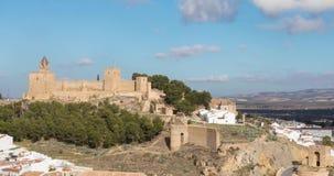 Herein summen Zeitspanneansicht von Antequera laut stock video