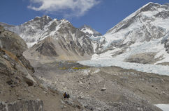 Hereinkommende Everest-Basis kam stockfoto