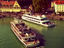 Hereinkommender Hafen Feriboat Lizenzfreies Stockbild