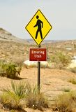 Hereinkommender Staat Utah Lizenzfreie Stockbilder