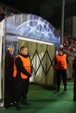Hereinkommender Tunnel in den Umkleideraum lizenzfreie stockfotos