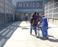 Hereinkommendes Tijuana lizenzfreies stockfoto