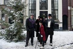 Heren in de victorian leeftijd Stock Foto's
