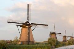 Herencia Países Bajos de la UNESCO de los molinoes de viento de Kinderdijk Imágenes de archivo libres de regalías