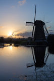 Herencia Países Bajos de la UNESCO de los molinoes de viento de Kinderdijk Foto de archivo libre de regalías