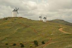 Herencia windmill Arkivfoton