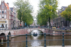 Herengracht canal in Amsterdam Royalty Free Stock Image