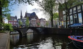 Herengracht canal in Amsterdam royalty free stock photography