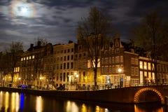 Herengracht em Amsterdão Imagem de Stock