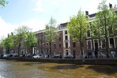 Herengracht - kanały w mieście Amsterdam, Holandia, holandie zdjęcie stock
