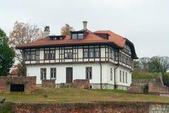 Herenhuis bij Kalemegdan-Vesting, Belgrado Royalty-vrije Stock Foto's