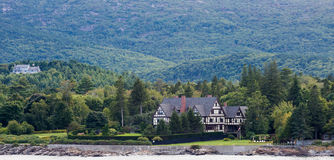Herenhuis op Maine Coast Stock Afbeelding