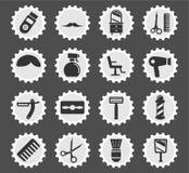 Herenkapper eenvoudig pictogrammen royalty-vrije stock fotografie