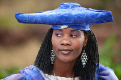 Herero african woman Royalty Free Stock Image