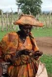 Herero-Frau lizenzfreies stockfoto